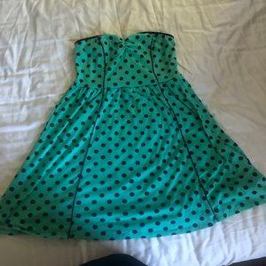 Xhilaration Strapless polka dot dress